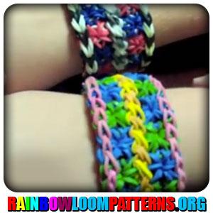 rainbow loom bracelets rainbow loom double cross double starburst    Rainbow Loom Double Starburst